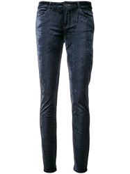 Paige Skinny Trousers Blue