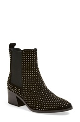 Alice Olivia 'Allistar Enchanted' Studded Bootie Women Black Leather