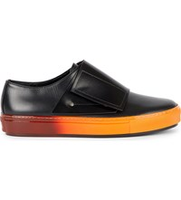 Marni Leather And Ombre Rubber Trainers Black Black