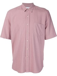 Our Legacy Classic Short Sleeved Shirt Pink And Purple