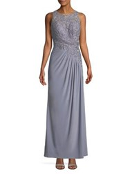 Cachet Sequin Tucked Gown Slate