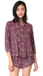 Eberjey Daisy Pj Top Vineyard Wine