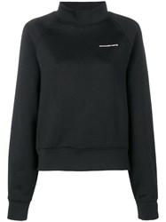 Alexander Wang T By Funnel Neck Sweatshirt Black
