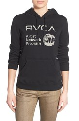 Women's Rvca 'Reflect' Logo Hoodie Black