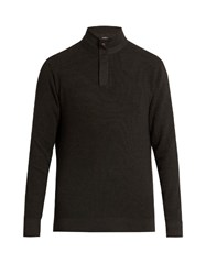 Ermenegildo Zegna Wool Blend High Neck Sweater Dark Grey