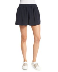 Vince Pleated Silk Pull On Shorts Coastal
