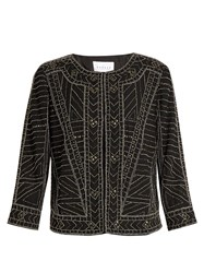 Velvet By Graham And Spencer Magali Embellished Jacket Black
