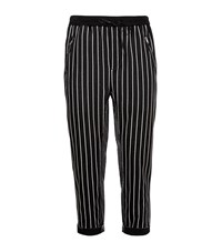 3.1 Phillip Lim Cropped Stripe Joggers Male Black