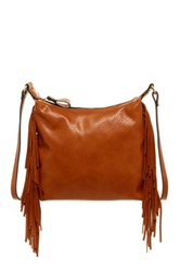 Sondra Roberts Fringe Crossbody Brown