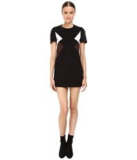 Neil Barrett Modernist Fitted Sweatshirt Dress Black