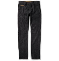 Berluti Straight Leg Stretch Denim Jeans Blue