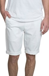 Ben Sherman Slim Stretch Chino Shorts White
