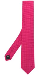 Fendi Patterned Tie Pink And Purple