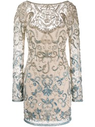 Just Cavalli Sequin Embroidered Fitted Dress 60