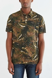 Cpo Aston Floral Printed Polo Shirt Brown