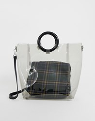 New Look Perspex Tote Bag Black