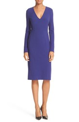 Diane Von Furstenberg Women's Milena Fitted Crepe Sheath Dress