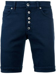 Dondup Buttoned Shorts Blue