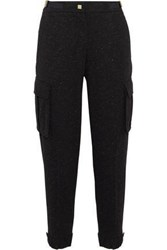 Versace Metallic Embellished Jersey Track Pants Black