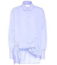 Victoria Beckham Cotton Shirt Blue