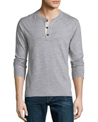 Rag And Bone Rag And Bone Basic Long Sleeve Henley Shirt Gray Size Small