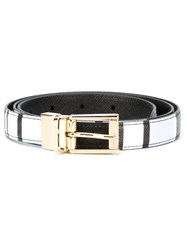 Dolce And Gabbana Colour Block Belt Multicolour