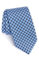 Men's J.Z. Richards Medallion Silk Tie Blue