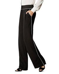 Karen Millen Contrast Piped Pants Black