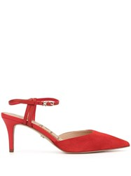 Sam Edelman Javin Ankle Strap Pumps Red