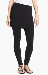 Eileen Fisher Skirted Ankle Leggings Regular And Petite Black