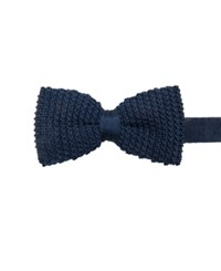 Ryan Seacrest Distinction Men's Knit Pre Tied Bow Tie Only At Macy's Navy