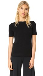 Theory Cashmere Tolleree Short Sleeve Sweater Black