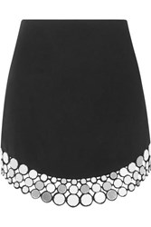 David Koma Embellished Crepe Mini Skirt Black