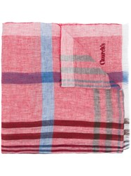 Church's Check Scarf Red