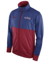 Nike Men's Texas Rangers Track Jacket Royalblue Red