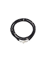 Nialaya Jewelry Beaded Wrap Around Bracelet Black