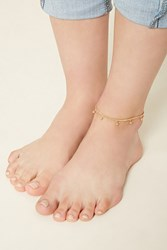 Forever 21 Ball Charm Layered Anklet Gold