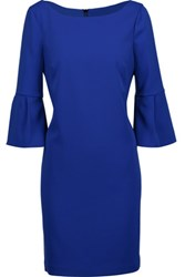 Badgley Mischka Stretch Crepe Mini Dress Royal Blue