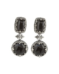 Konstantino Silver Multi Shape Onyx Drop Earrings Black