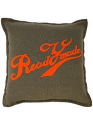 Readymade Logo Print Pillow Green