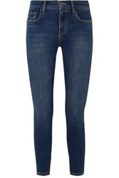 Current Elliott The Stiletto Cropped High Rise Skinny Jeans Mid Denim