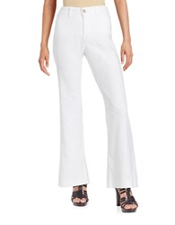 Nydj Petite Claire Linen Blend Pants Optic White