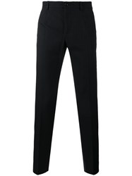 Dolce And Gabbana Cotton Wool Blend Tailored Trousers Grey