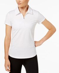 Ideology Performance Zip Polo Created For Macy's Bright White