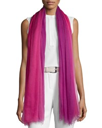Loro Piana Iride Unique Cashmere Stole Raspberry Men's Dark Pink Fancy Raspberry R