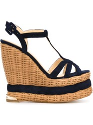 Paloma Barcelo 'Valerie' Wedge Sandals Blue