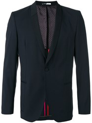 Paul Smith Ps By Shawl Lapel Blazer Men Viscose Mohair Wool 52 Black