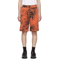 Helmut Lang Orange And Grey Terry Shorts