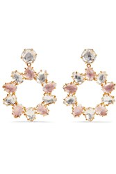 Larkspur And Hawk Caterina Pinwheel Gold Dipped Quartz Earrings One Size