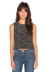 Lanston Cropped Tank Black